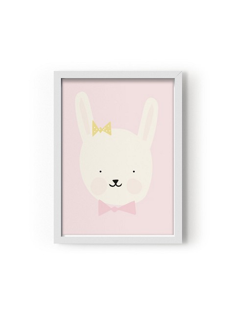Poster con animaletti Miss Bunny