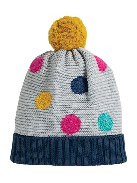 Evie Embroidered Bobble Hat