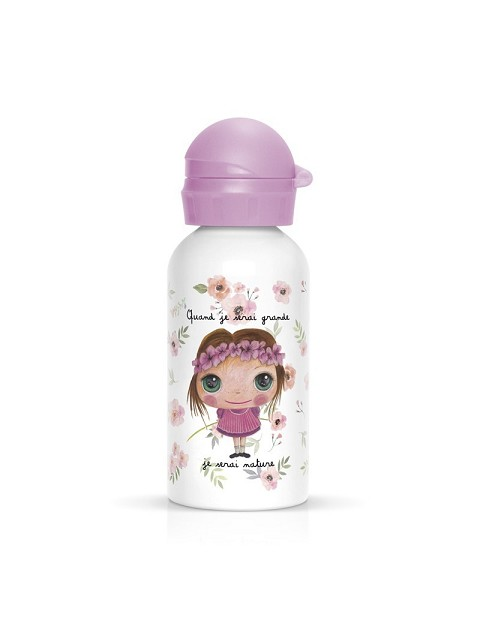 Borraccia in metallo da 400 ml bambina natura