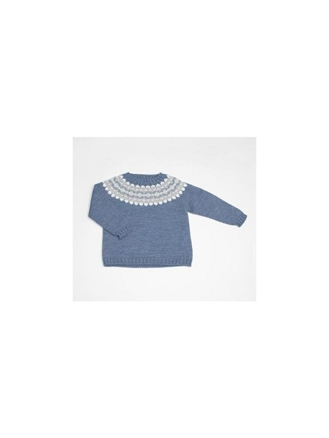 Baby George pattern wool sweater