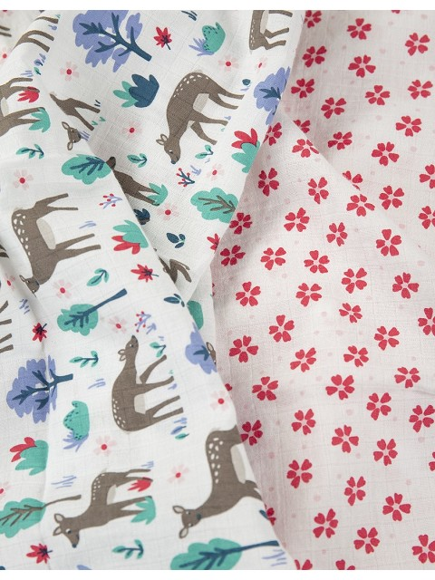Lovely 2 pack muslin in organic cotton muslin