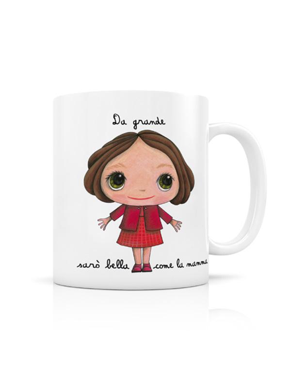 multe stiluri magazin de desfacere data eliberării: Puffete Tazza in ceramica con scritta Da grande sarò bella come la ...