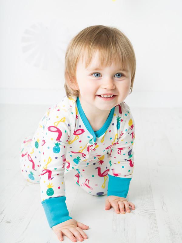 nuovo concetto 0aa0a c7f7e Puffete Tutina o pigiama con Fenicotteri con piedini | Moda ...