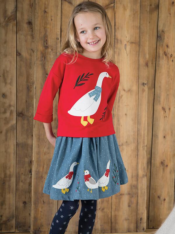 online store cfdc4 f7f44 Puffete Gonna a ruota con paperelle e uccellino | Moda Bimbi ...